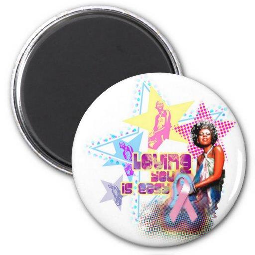 Minnie Pink Ribbon Magnet
