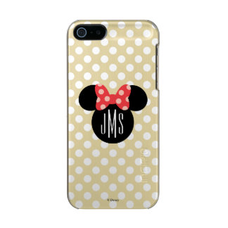 Minnie Polka Dot Head Silhouette | Monogram Incipio Feather® Shine iPhone 5 Case
