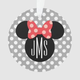Minnie Polka Dot Head Silhouette | Monogram Ornament