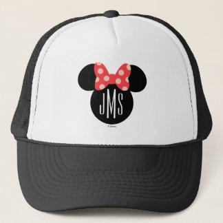 Minnie Polka Dot Head Silhouette | Monogram Trucker Hat