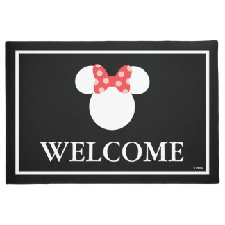 Minnie Polka Dot Head Silhouette | Welcome Doormat