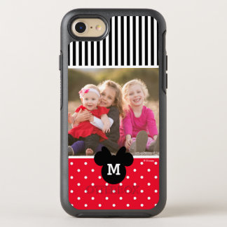 Minnie Red Polka Dot | Custom Photos & Monogram OtterBox Symmetry iPhone 8/7 Case