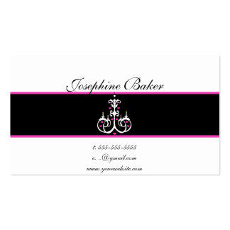 minniemay black+white chandelier pack of standard business cards