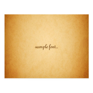 minniemay faux parchment postcard