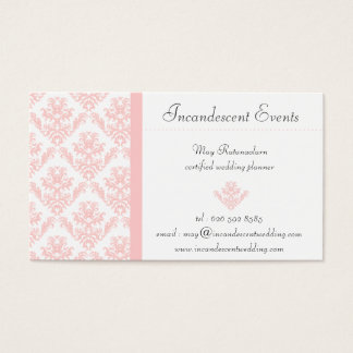 minniemay white and pink damask business cards