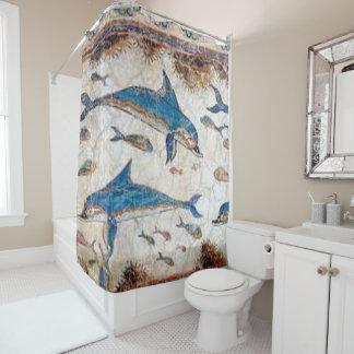 minoan 2 shower curtain