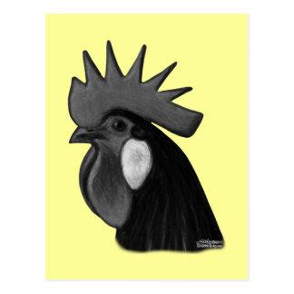 Minorca Rooster Head Postcard