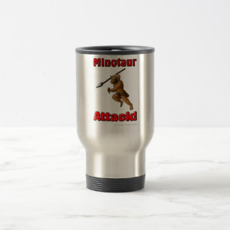 Minotaur Attack (with slogan) Travel Mug