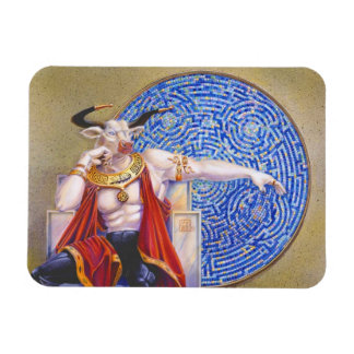 Minotaur with Mosaic Rectangular Photo Magnet