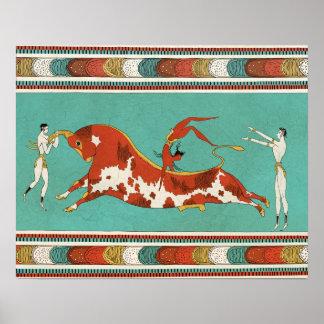 Minotauro, the bull of Crete Poster