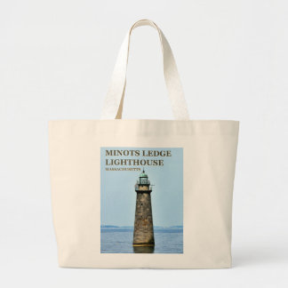 Minots Ledge Lighthouse Massachusetts Tote Bag