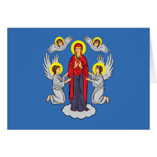 Minsk, Belarus flag Card