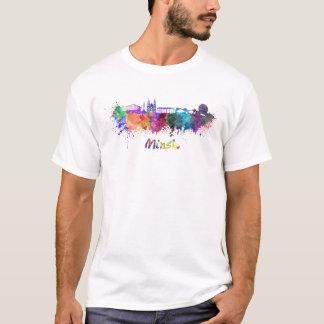 Minsk skyline in watercolor T-Shirt