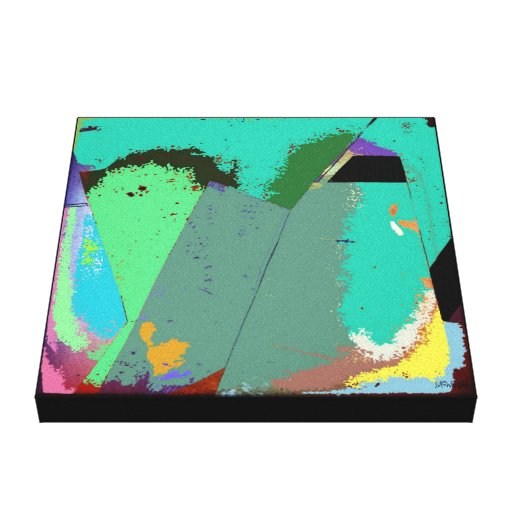Mint Abstract Expressionism Canvas Print