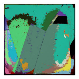Mint Abstract Expressionism Poster Art