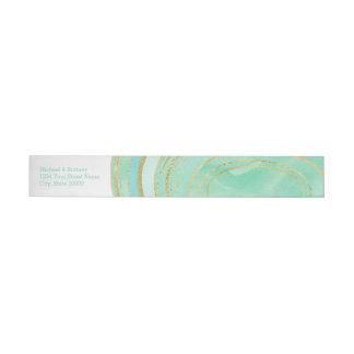 Mint Agate Watercolor | Wrap Address Label Wraparound Address Label