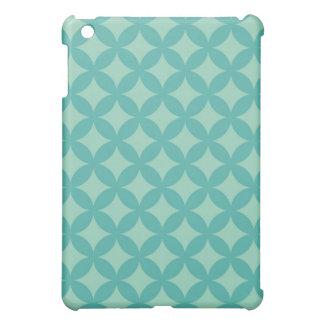 Mint and Aqua Geocircle Design Case For The iPad Mini