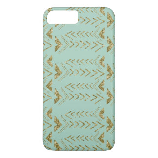Mint and Gold Arrows iPhone 7 Plus Case