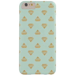 Mint and Gold Glitter Diamonds iPhone Case
