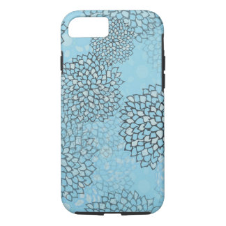 Mint and Grey Flower Burst Design iPhone 8/7 Case