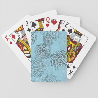 Mint and Grey Flower Burst Design Playing Cards