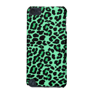 Mint and Jade Green leopard print iPod Touch (5th Generation) Covers