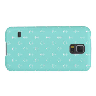 Mint and white anchor, Samsung Galaxy phone case