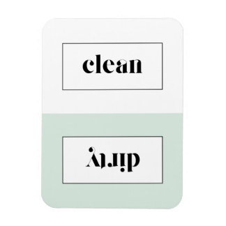 Mint and White Bold Stencil Typography Dishwasher Magnet
