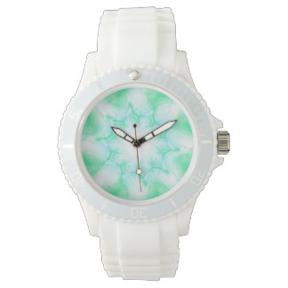 Mint and White Sporty Watch