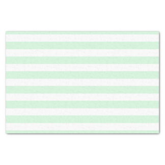 Mint and White Striped Tissue Paper