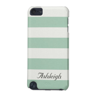 Mint and White Stripes iPod Touch 5G Cases