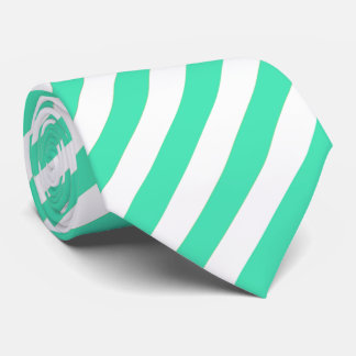 Mint and White Stripes Tie