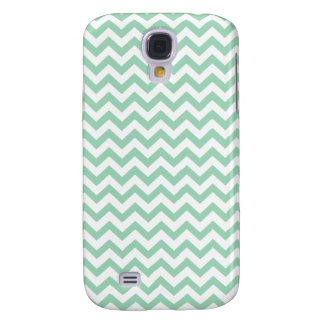 Mint and White ZigZag Pattern HTC Vivid Cases