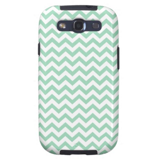 Mint and White ZigZag Pattern Samsung Galaxy S III Galaxy S3 Covers