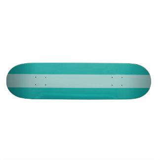 Mint Aqua Striped 20 Cm Skateboard Deck