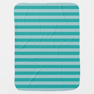 Mint Aqua Striped Baby Blanket