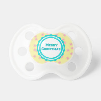 Mint Baby's First Merry Christmas  Pacifier