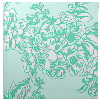 Mint Blossoms Floral Spring and Summer Napkin