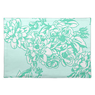 Mint Blossoms Floral Spring and Summer Placemat