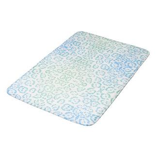 Mint Blue Leopard Pastel Kawaii Animal Print Green Bath Mats