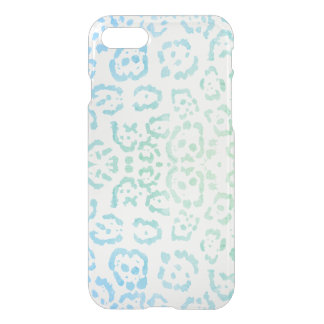 Mint Blue Leopard Pastel Kawaii Animal Print Green iPhone 8/7 Case
