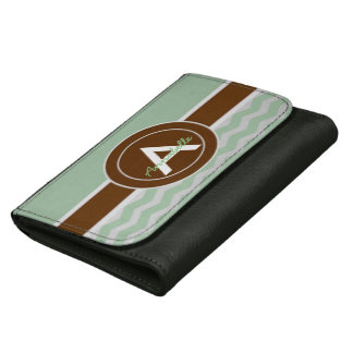 Mint Brown Chevron Women's Wallet