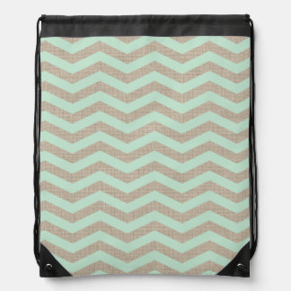 Mint & Burlap Chevron Drawstring Backpack