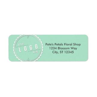 Mint Business Logo Address Labels