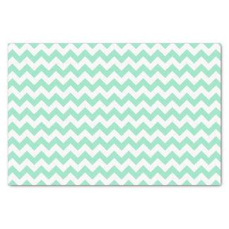 Mint Chevron Tissue Paper