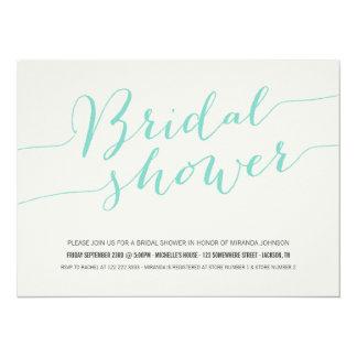 Mint Chic Bridal Shower Invitations