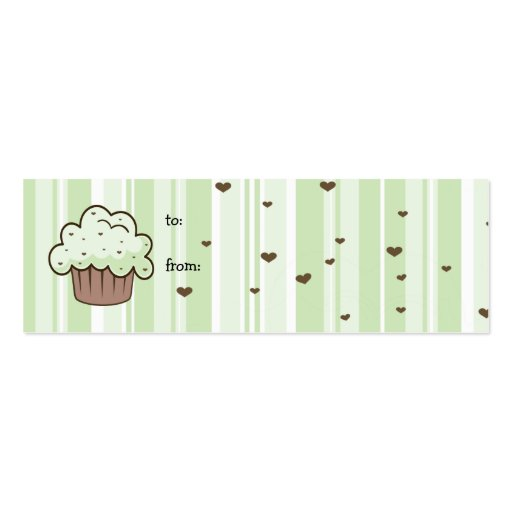 Mint Chip Gift Tag Business Card Templates