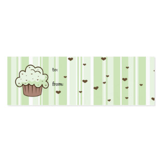 Mint Chip Gift Tag Pack Of Skinny Business Cards