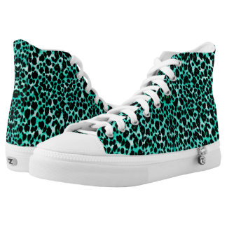 Mint Chip Leopard Print Printed Shoes
