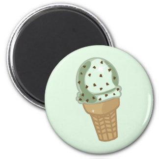 Mint Chocolate Chip 6 Cm Round Magnet